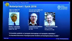 جائزة نوبل في الفيزياء 2016 م